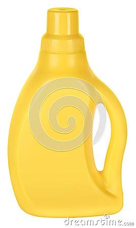 Free Yellow Plastic Bottle Royalty Free Stock Photos - 9111588