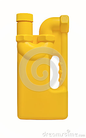 Yellow plastic bottle of drain cleaner