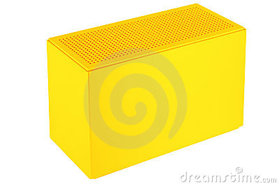 Yellow plastic box