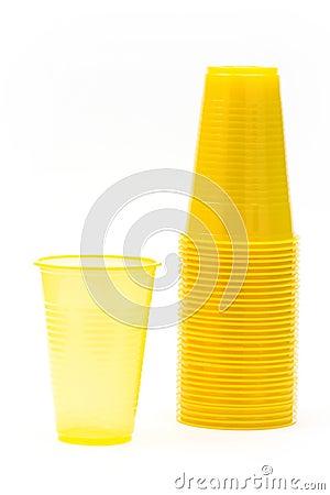 Yellow plastic glasses