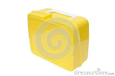 Yellow plastic lunchbox