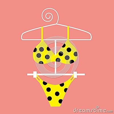 Free Yellow Polka Dot Bikini Stock Photos - 2247373