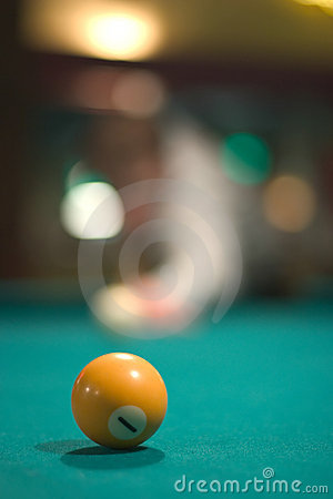 Yellow pool ball