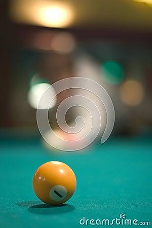 Yellow pool ball