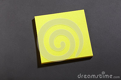 Yellow post it block note