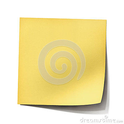 Free Yellow Post It Note Stock Photos - 24770093