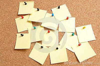 Yellow post-it notes