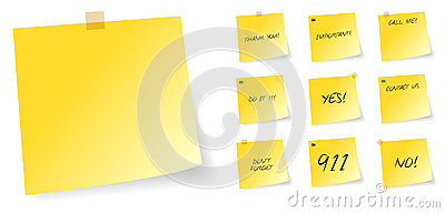 Yellow Post It Sticky Notes With Messages