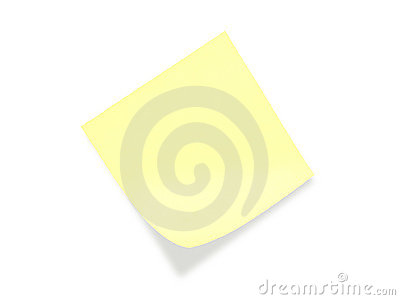 Yellow postit note