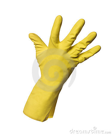 Yellow protection glove