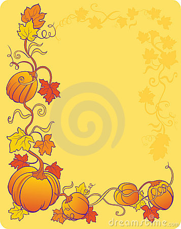 Yellow pumpkin background