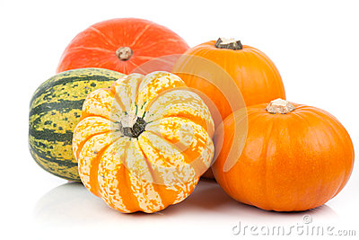Yellow pumpkins vegetables Stock Photo
