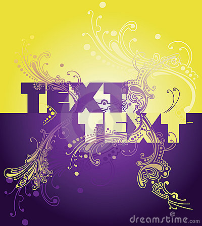 Yellow Purple Wow Curves Text