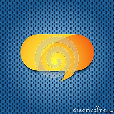 Yellow quote speech bubble