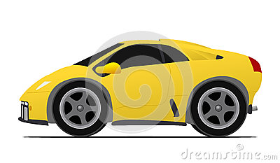 Yellow race car
