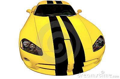 Yellow Racing Car - Dodge Viper Super Bee edition