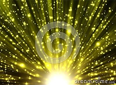 Yellow rays and stars