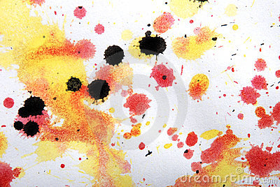 Yellow, red, black colorlump, my artwork