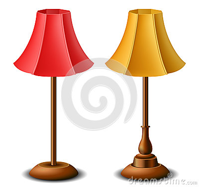 Yellow and red lamps