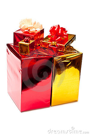 Yellow and red presents