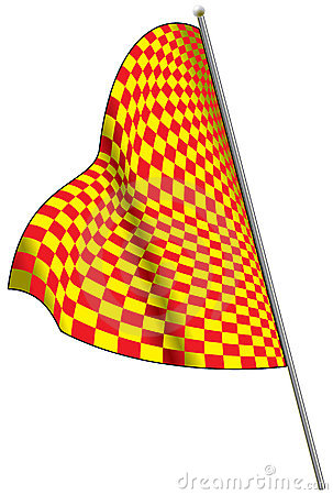 Yellow-red racing flag.
