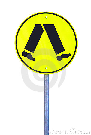 Yellow Reflective Pedestrian Crossing Sign