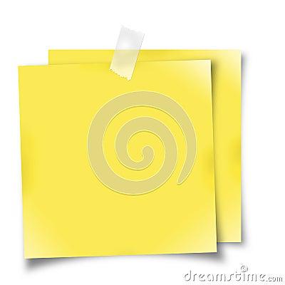 Yellow reminder notes