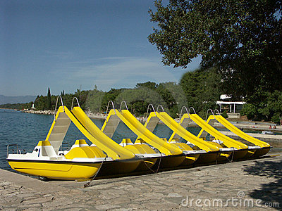 Yellow Rental Boats