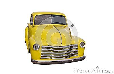 Yellow retro pickup