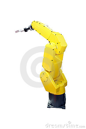 Yellow robotic arm