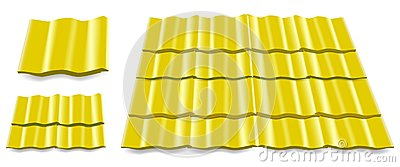 Yellow roof tile