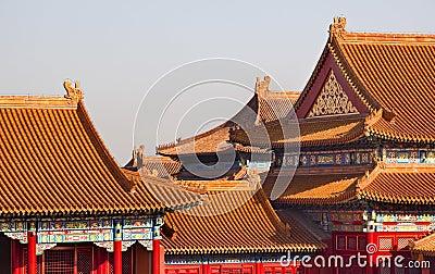 Yellow Roofs Forbidden City Beijing