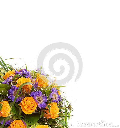 Yellow roses  bouquet.
