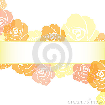 Yellow Roses Frame Background