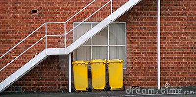 Yellow Rubbish Bins