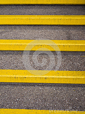 Yellow Safety Steps - Accident Prevention