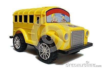 Yellow school bus toy