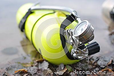 Yellow scuba tank