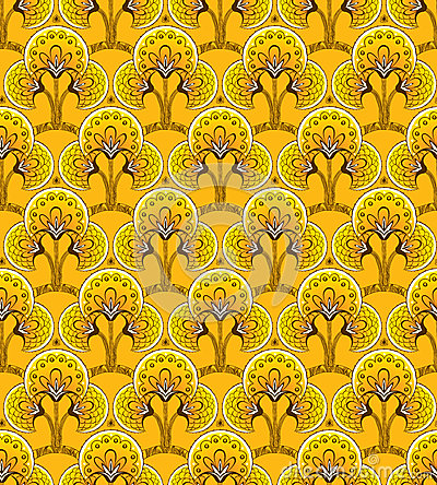 Yellow Seamless background