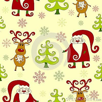 Yellow seamless christmas pattern 3.