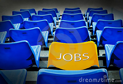 Yellow seat  with jobs wording