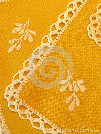 Yellow serviette