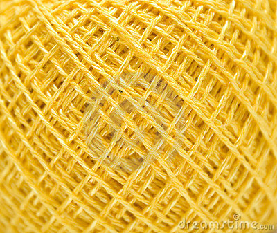 Yellow sewing clew