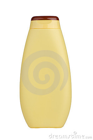 Free Yellow Shampoo Bottle Royalty Free Stock Image - 23756006