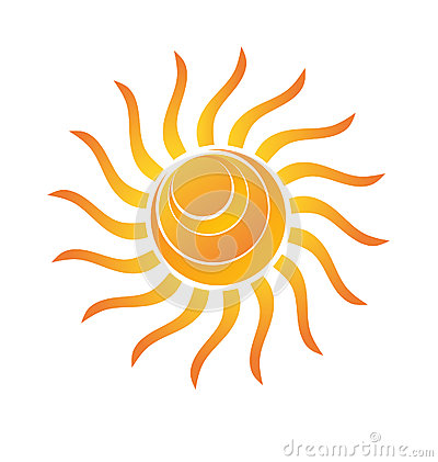 Yellow Shiny Sun Icon