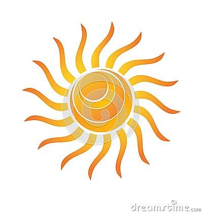 Yellow Shiny Sun Icon