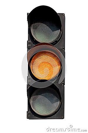 Free Yellow Signal Of The Traffic Light Stock Photos - 60736423