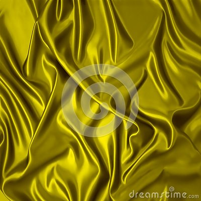 Yellow silk cloth with folds.