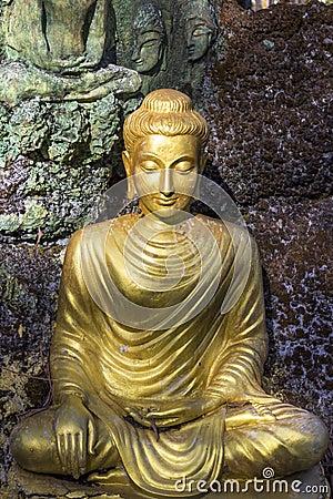 Free Yellow Sitting Budha Image Stock Image - 48068841