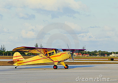 Yellow Small Plane
